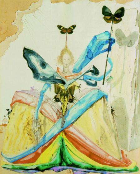 Salvador Dali ~ The Queen of the Butterflies, 1951 ~