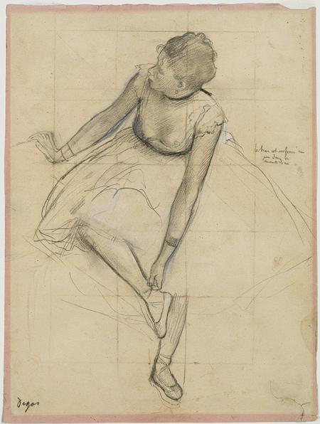 Edgar Degas: Dancer Adjusting Her Slipper