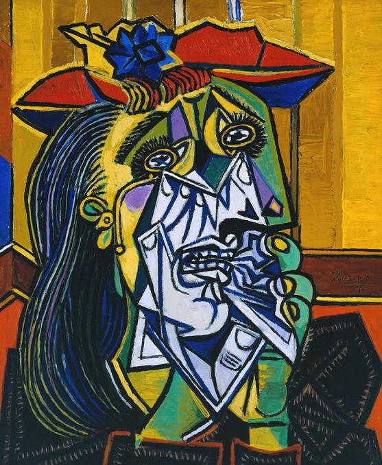 Weeping Woman 1937 Pablo Picasso 1881-1973 Accepted by HM Government in lieu of tax with additional payment (Grant-in-Aid) made with assistance from the National Heritage Memorial Fund, the Art Fund and the Friends of the Tate Gallery 1987