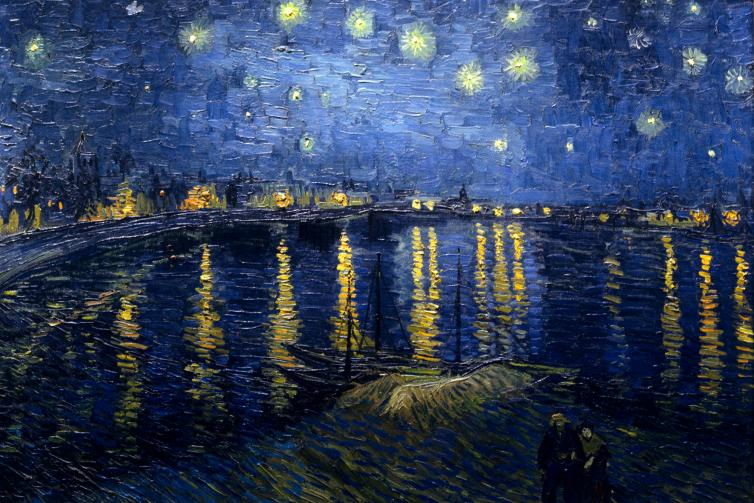 Vincent Van GOGH - Starry Night Over the Rhone, 1888