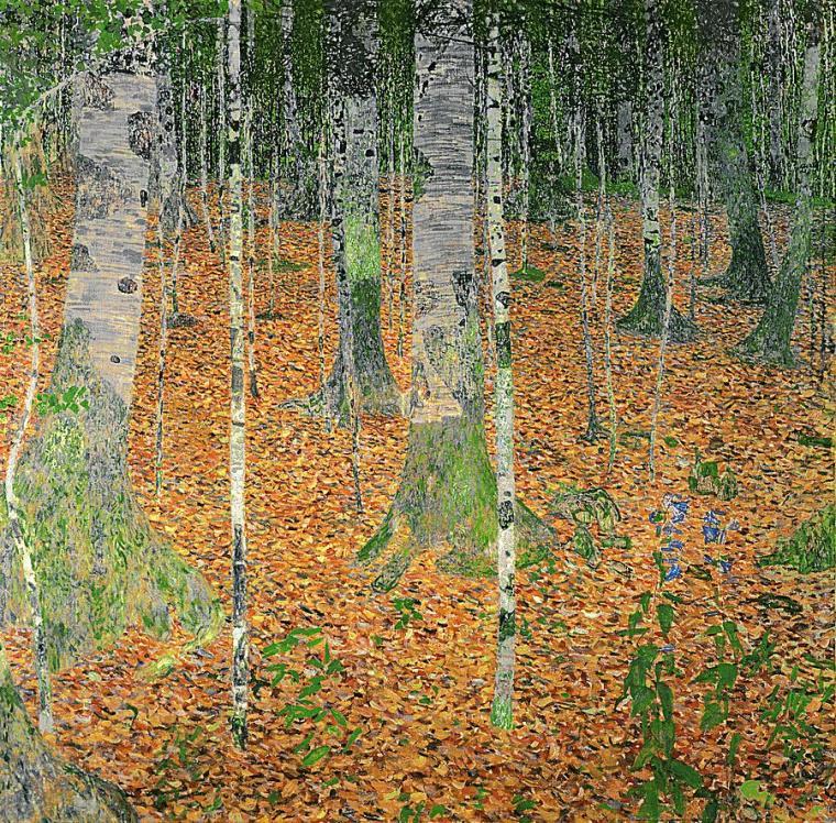 Gustav Klimt- The Birch Wood (1903)