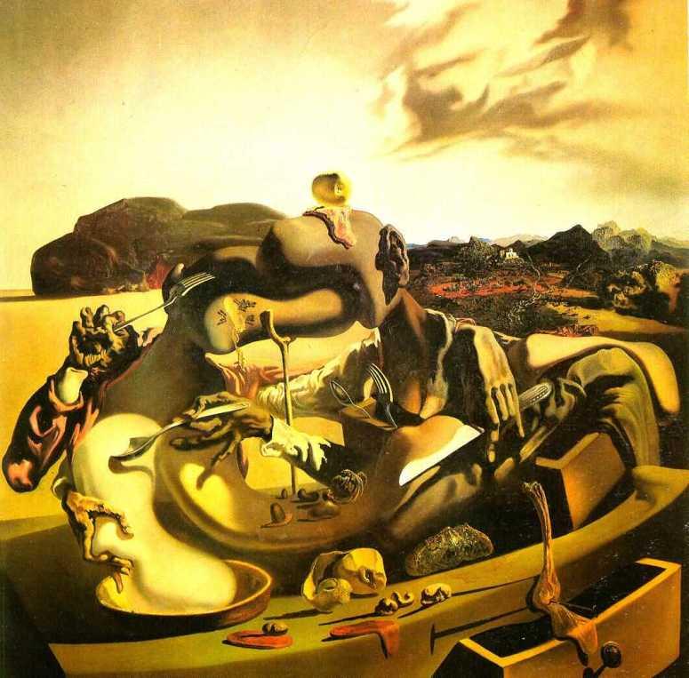 Salvador Dalí- Autumnal Cannibalism 1936